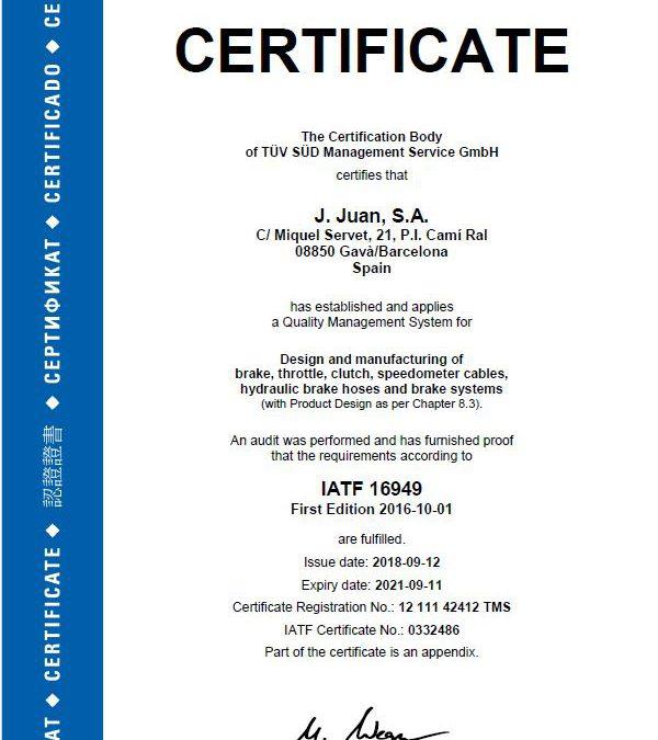 AGAIN J.JUAN SUCCEDS IN THE IATF AUDIT