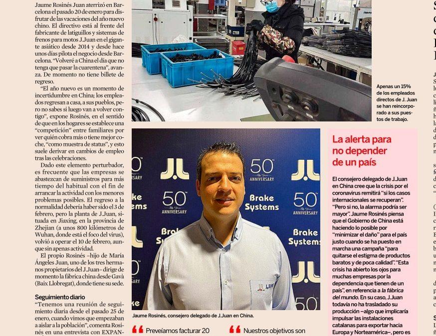 La estrategia de J.Juan para adaptar su planta en China al coronavirus