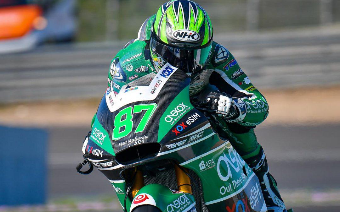 Remy Gardner,  segundo podio en Moto2 con freno trasero J.Juan