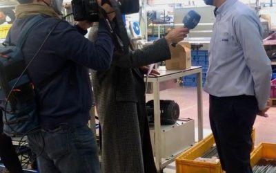 J.Juan protagonista de un directo en los informativos de TVE