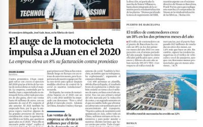 La Vanguardia values positively the performance of J.Juan in 2020