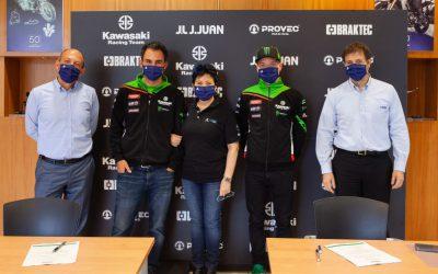 J.Juan 、 Kawasakiと スーパーバイクでのスポンサー契約を更新