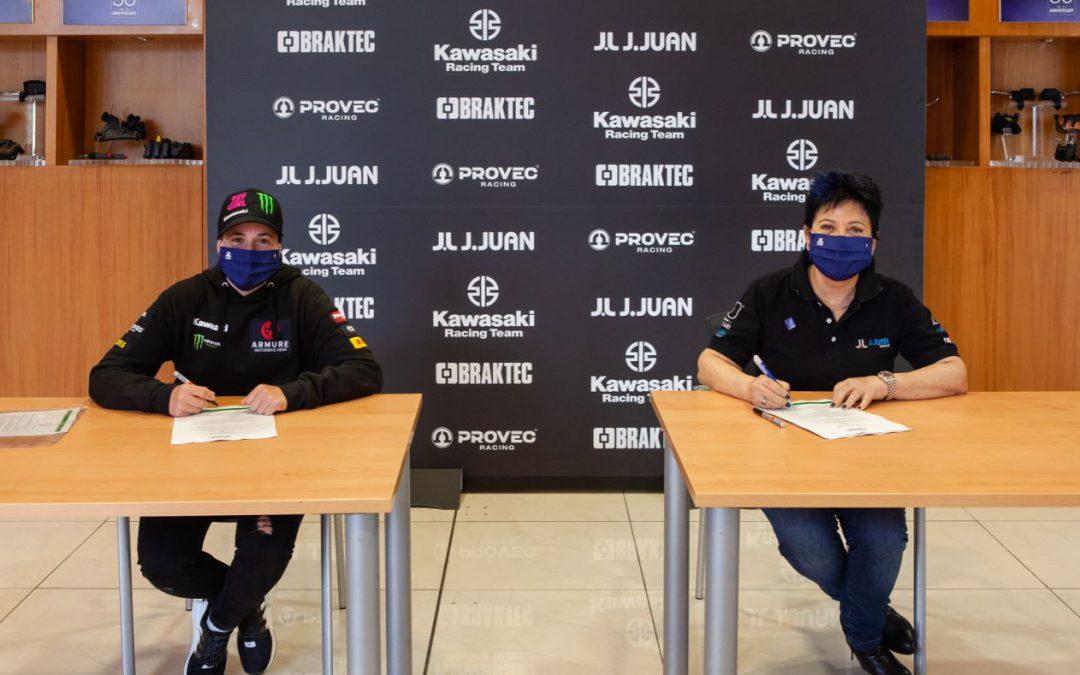 J.Juan y Kawasaki Provec renuevan su patrocinio en el WorldSSP300